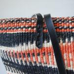 Black-white-orange-sisal-tote-detail