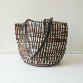 Black-white-brown-tote