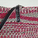 Pink-black-white-sisal-tote-detail