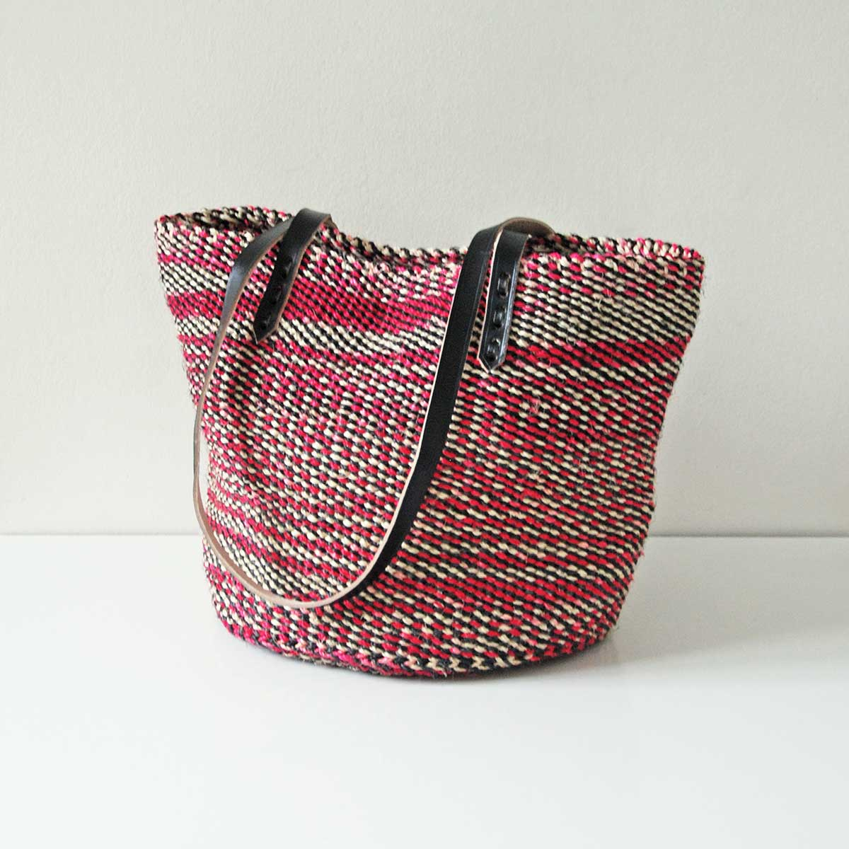 Pink-black-white-sisal-tote